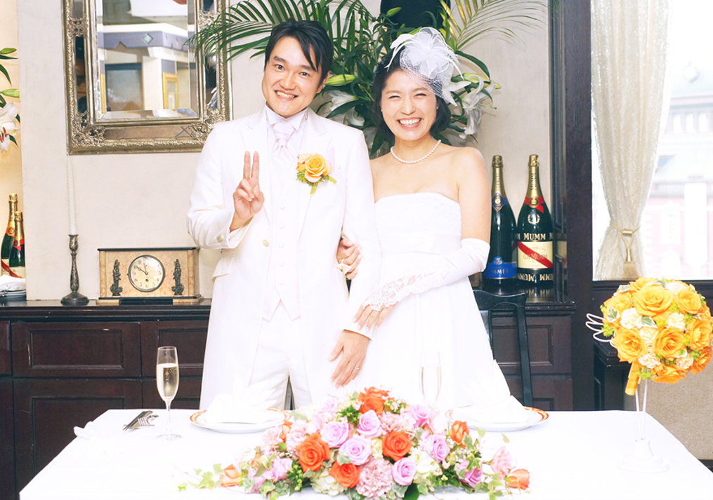 結婚式の記念写真