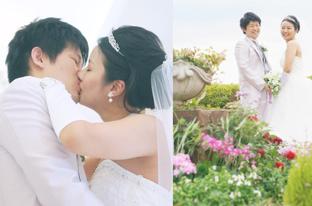 結婚式のカップルの写真
